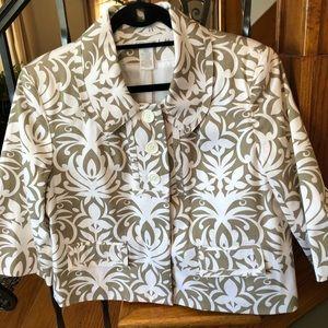 Worthington Stretch Floral Jacket Large